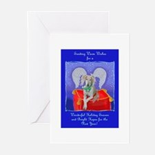 Greeting Cards (Pk of 10) Saluki Xmas Angel