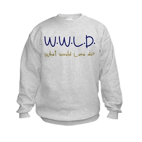 What would Luna do? Kids Sweatshirt