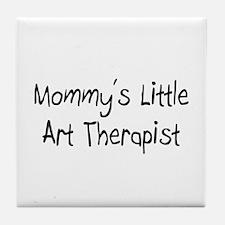 Mommy's Little Art Therapist Tile Coaster