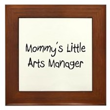 Mommy's Little Arts Manager Framed Tile