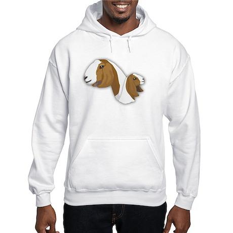Boer Goat Hooded Sweatshirt
