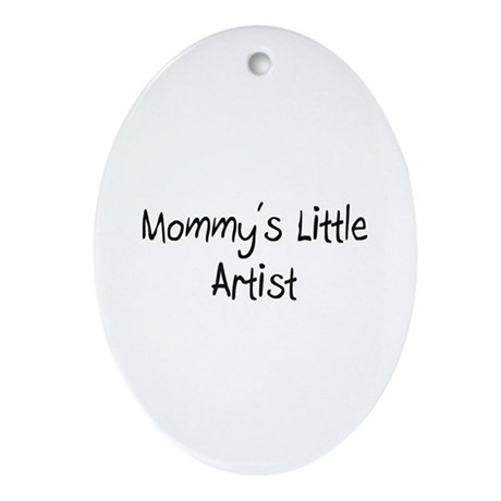 Mommy's Little Artist Oval Ornament