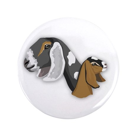 """Nubian Goat 3.5"""" Button (100 pack)"""