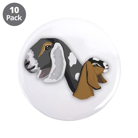"Nubian Goat 3.5"" Button (10 pack)"