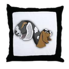 Nubian Goat Throw Pillow