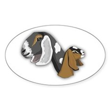 Nubian Goat Oval Decal