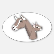 Toggenburg Goat Oval Decal