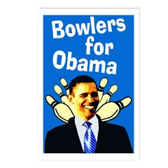 Bowlers for Obama Postcards