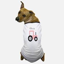 Olivia - Pink Tractor Dog T-Shirt