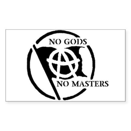 NO GODS NO MASTERS Rectangle Sticker