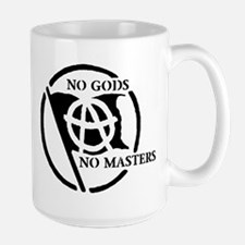 NO GODS NO MASTERS Large Mug