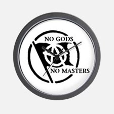 NO GODS NO MASTERS Wall Clock