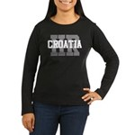HR Croatia Women's Long Sleeve Dark T-Shirt