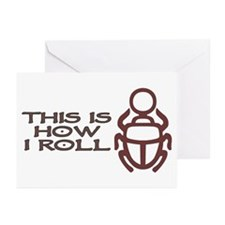 Scarab How I Roll Greeting Cards (Pk of 20)