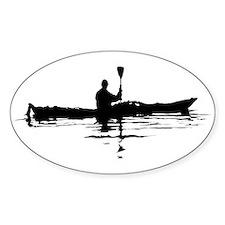 Kayaking Oval Decal