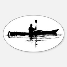 Kayaking Oval Decal