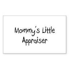 Mommy's Little Appraiser Rectangle Decal