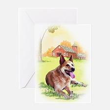 red heeler ranbow bridge Greeting Card
