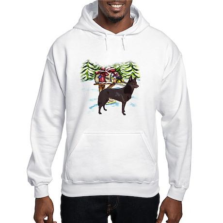 Kelpie Christmas Hooded Sweatshirt