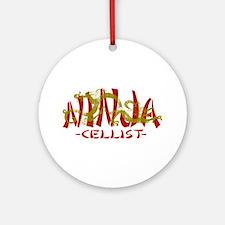 Dragon Ninja Cellist Ornament (Round)