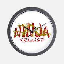 Dragon Ninja Cellist Wall Clock