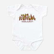 Dragon Ninja Cellist Infant Bodysuit