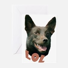 lol kelpie Greeting Cards (Pk of 10)