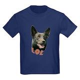 Dog kelpie Kids T-shirts (Dark)