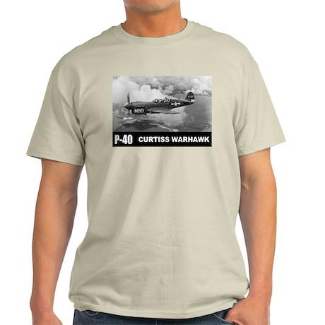P-40 Curtiss Warhawk Light T-Shirt