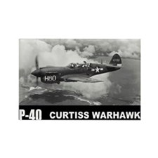 P-40 Curtiss Warhawk Rectangle Magnet