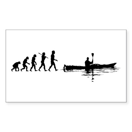 Kayaking Rectangle Sticker