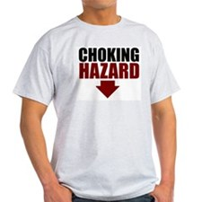 Choking Hazard and Pimp Ash Grey T-Shirt