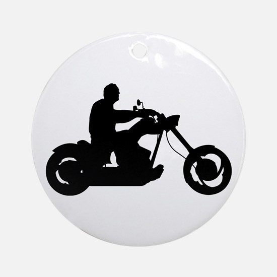 Bike Rider Ornament (Round)
