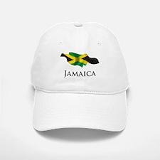 Map Of Jamaica Baseball Baseball Cap