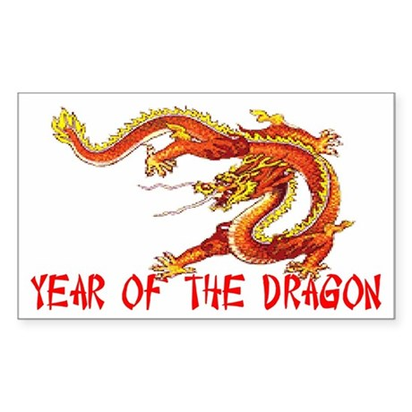 Year of the Dragon Rectangle Sticker