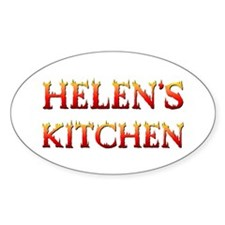 HELEN'S KITCHEN Oval Decal