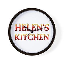 HELEN'S KITCHEN Wall Clock