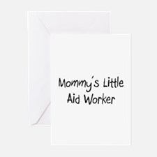 Mommy's Little Aid Worker Greeting Cards (Pk of 10