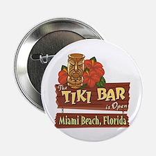 """Miami Beach Tiki Bar - 2.25"""" Button"""