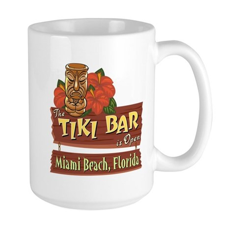 Miami Beach Tiki Bar - Large Mug