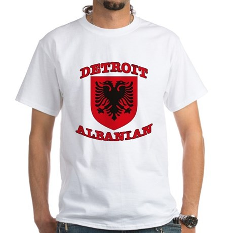 Detroit Albanian White T-Shirt