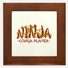 Dragon Ninja Conga Player Framed Tile