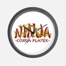 Dragon Ninja Conga Player Wall Clock