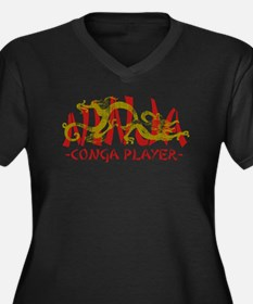 Dragon Ninja Conga Player Women's Plus Size V-Neck