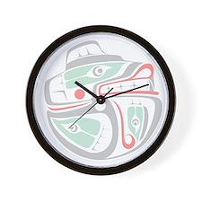 Kwakiutl Bear Salmon Wall Clock