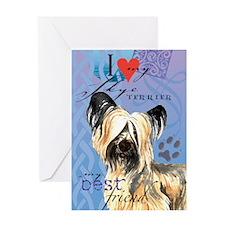 Skye Terrier Greeting Card