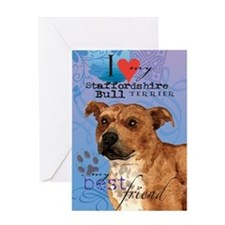 Staffordshire Bull Greeting Card