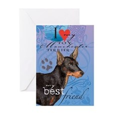 Toy Manchester Terrier Greeting Card