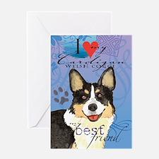 Cardigan Welsh Corgi Greeting Card