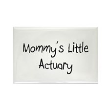 Mommy's Little Actuary Rectangle Magnet